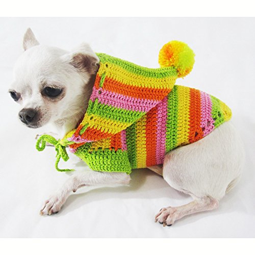 Rasta Green Orange Colorful Dog Hoodie Pet Clothes Cotton Unique