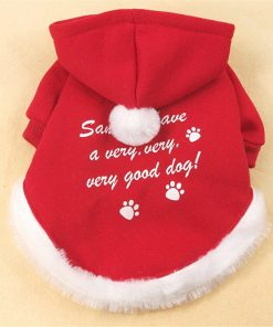 Chiqpets Christmas Dog Clothes Red Hoodies Sport Clothes Pet Clothing Santa Clothes Small Medium Dog Cat Chihuahua Yorkshire-2