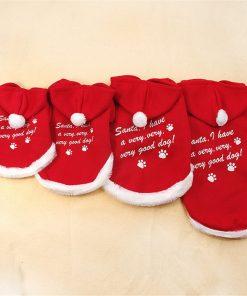 Chiqpets Christmas Dog Clothes Red Hoodies Sport Clothes Pet Clothing Santa Clothes Small Medium Dog Cat Chihuahua Yorkshire-1