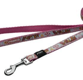 Rogz Dog Lead Pink Rogzette Design