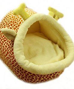 Follow518 Cute Giraffe Shape Teddy Chihuahua Cat Soft Small Bed Autumn Winter Warm Pet House