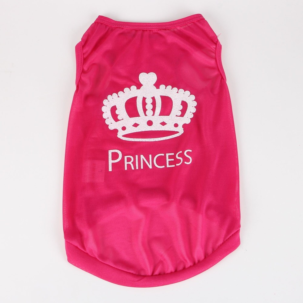 929467453d82 ... Commoditier Crown Prince Summer Dog T-shirt Small Dog Clothes for  Chihuahua Summer Puppy Clothes ...