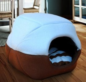 2 in 1 Pet Dog Cat House-Sofa Kennel Pet Bed Small - 1