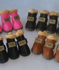 Ship From USA Dog Australia Boots Pet Antiskid Shoes Winter Warm Skidproof Sneakers Paw Protectors 4-pcs Set - 1