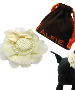 Alfie Pet by Petoga Couture - Michelle Hat Wedding Bridal Hair Clip for Dogs and Cats with Fabric Storage Bag - 1