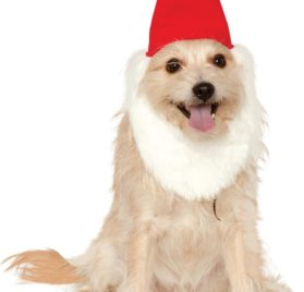 Rubies Costume Company Garden Gnome Hat with Beard for Hats, Small/Medium - 1