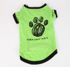 Commoditier Green Paw Summer Dog Outfit Dresses for Dogs Small Dog Shirts - 1