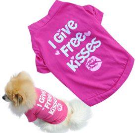 Binmer(TM)Fashion Pet Dog Clothes Cat Puppy Pet Puppy Spring Summer Shirt Small Pet Clothes Vest T Shirt - 1