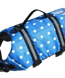 Paws Aboard Doggy Lifejacket Blue Polkadot Extra-extra small