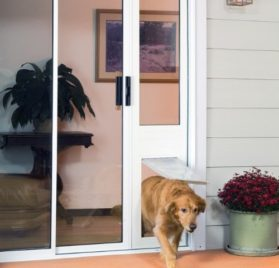 Patio Pacific Quick Panel 3e for sliding glass doors with Endura Flap pet door - 2