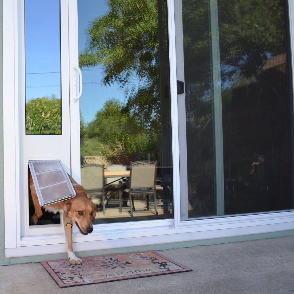 ... Patio Pacific Quick Panel 3e For Sliding Glass Doors With Endura Flap  Pet Door   3 ...