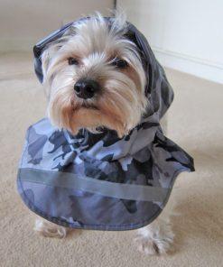 Alfie Couture Designer Pet Apparel - Waterproof Camouflage Raincoat - Color: Camouflage - 2