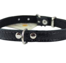 Genuine Leather Felt Padded Dog Collar X-Small 2