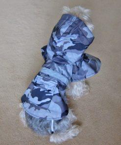 Alfie Couture Designer Pet Apparel - Waterproof Camouflage Raincoat - Color: Camouflage - 3
