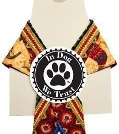 In Dog We Trust Chili Pepper Bandana, X-Small, Taupe - 1