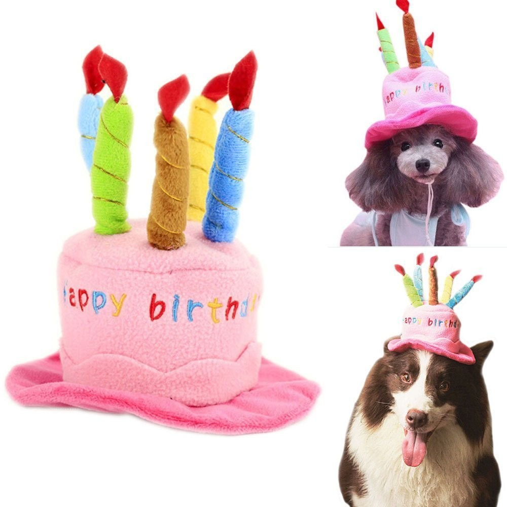Soft Fleece Dogs Birthday Hats Pets Puppy Cosplay Cap Party Head Wear