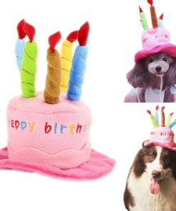 Soft fleece dogs birthday hats pets puppy cosplay cap party head wear for teddy chihuahua poddle pug