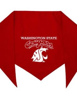"Washington State Cougars Bandana for Dogs (S) Ties on 9"" - 10"" neck"
