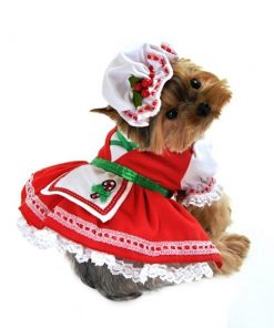 Candy Cane Cutie Dog Costume Size: X-Small