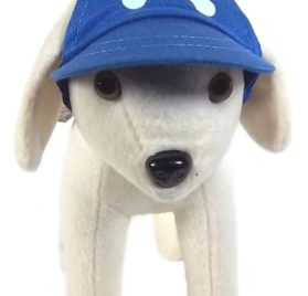 UP Collection Bone Printed Cap for Dogs, Basic Blue - 1