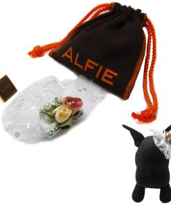 Alfie Pet by Petoga Couture - Hilary Bridal Wedding Clip Veil with Fabric Storage Bag - 1