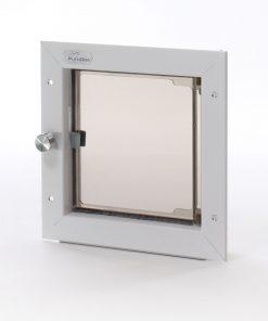 Small Plexidor Dog Door / Cat Door for Doors (White) - 1