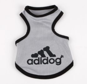 Commoditier Adidog Tank T-shirt Top Summer Dog Outfits Teacup Dog Clothes for Small Dogs - 1