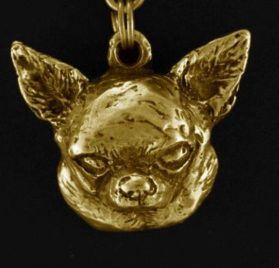 Chihuahua (Smooth Haired), Millesimal Fineness 999, Dog Necklaces, Limited Edition, Artdog - 3