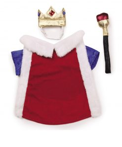 Zack & Zoey Royal Pup Pet Costume - Red - 1