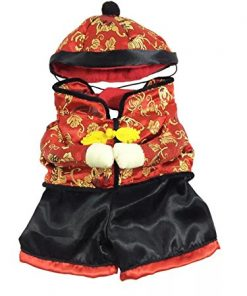 Dogloveit Chinese New Year Style With Hat Costume Clothes for Pet Dog Puppy Cat- 2