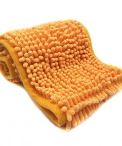 Alfie Pet by Petoga Couture - Cadee Microfiber Fast-Dry Chenille Towel (28 x 6 inch) with Bath Brush Massage Mitten Set - 2