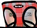 EZ Wrap Plaid Mesh Step-in Harness Red
