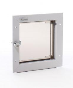 Small Plexidor Dog Door / Cat Door for Doors (White) - 2