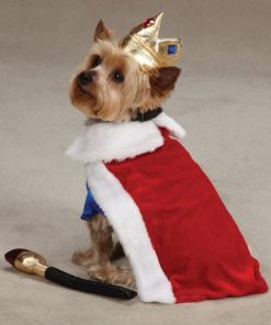 Zack & Zoey Royal Pup Pet Costume - Red - 3