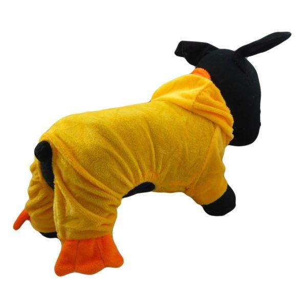 Alfie Couture Designer Pet Apparel - Dac Duckie Costume Jumper - Color: Orange - 4
