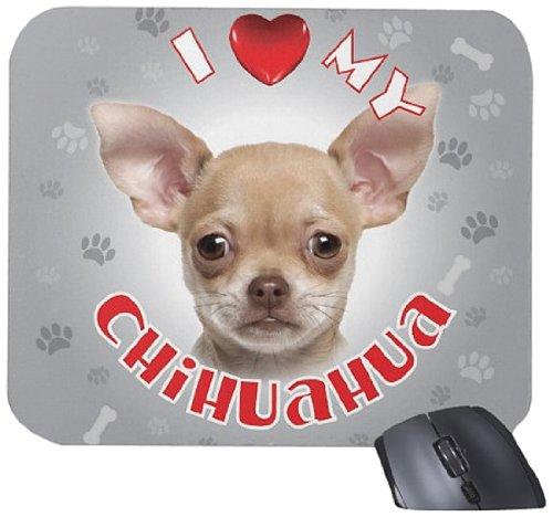 iLeesh i Love My Chihuahua Mouse Pad, Cream
