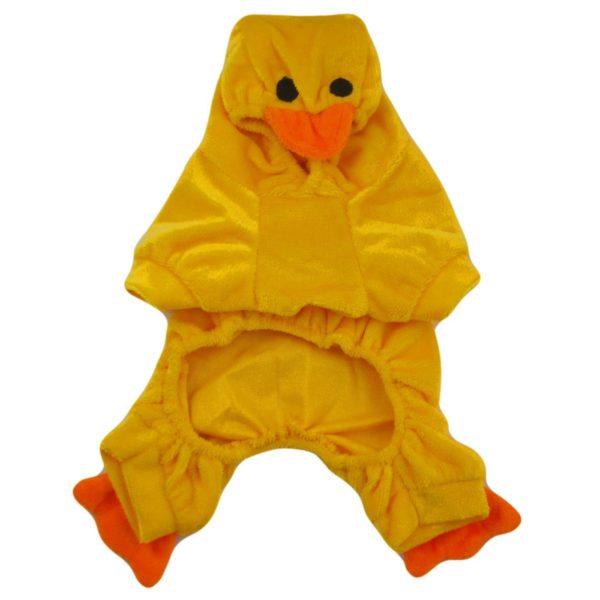Alfie Couture Designer Pet Apparel - Dac Duckie Costume Jumper - Color: Orange - 5
