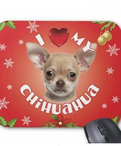 iLeesh I Love My Chihuahua Christmas Mouse Pad
