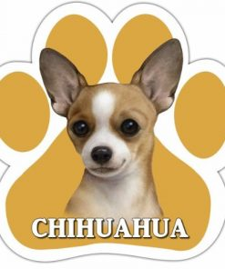 Chihuahua, Tan Car Magnet With Unique Paw Shaped Design