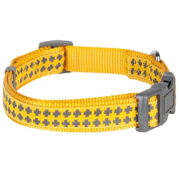 Blueberry Pet Gold Cross Yumy Pineapple and Silver Tinsel Roses Pattern Dog Collar 2