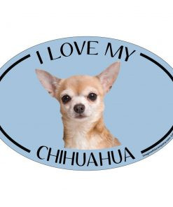 Imagine This Oval Magnet, I Love My Chihuahua