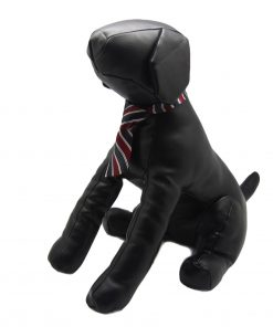 Alfie Pet by Petoga Couture - Qun Formal Dog Tie and Adjustable Collar Single - Red and Navy Stripe 6