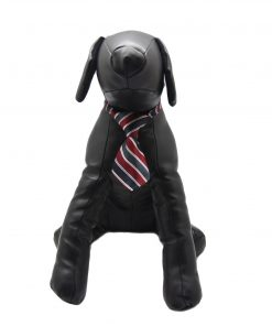 Alfie Pet by Petoga Couture - Qun Formal Dog Tie and Adjustable Collar Single - Red and Navy Stripe 5