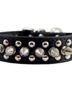 Stockroom Black Buckling Leather Collar, Small