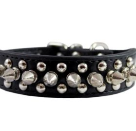Stockroom Black Buckling Leather Collar, Small