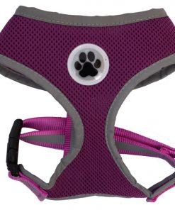 Reflective Mesh Soft Dog Harness Purple