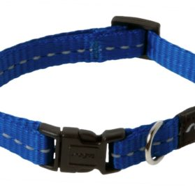 Rogz Utility Small 3/8-Inch Reflective Nitelife Dog Collar