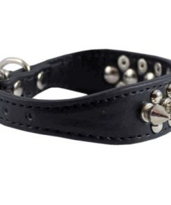 Stockroom Black Buckling Leather Collar, Small 4