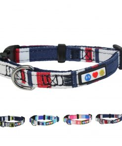Pawtitas Polyester Dog Collar Multicolor Red