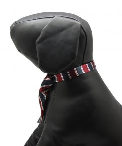 Alfie Pet by Petoga Couture - Qun Formal Dog Tie and Adjustable Collar Single - Red and Navy Stripe 7